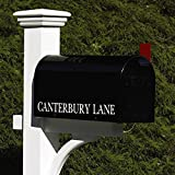 21'' Handcrafted Bold Black Outdoor Yard and Patio Mailbox