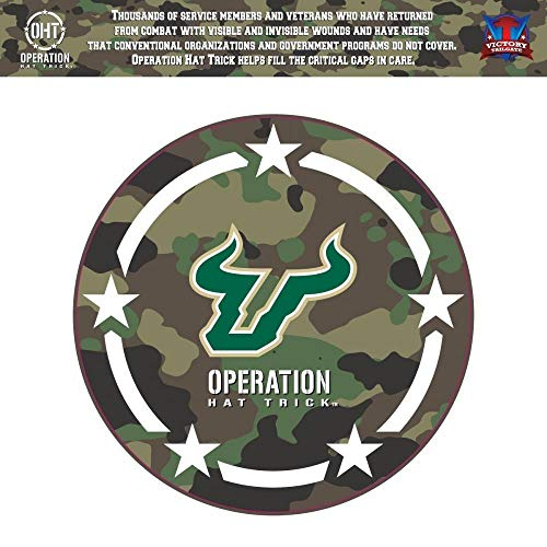 (Victory Tailgate South Florida Bulls USF Operation Hat Trick OHT Coin Die Cut Vinyl Decal (6x6))
