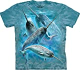 The Mountain Narwals Adult T-shirt Blue Medium