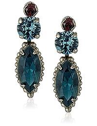 "Sorrelli ""Blue Brocade"" Modern Marquise Drop Earring"