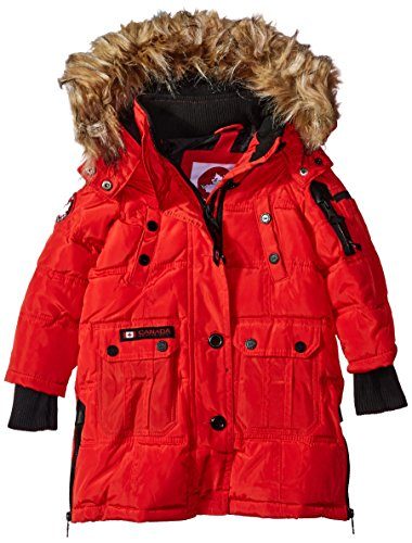cw055 Toddler Gear More Outerwear red Weather Canada Styles Stadium Jacket Hooded Girls' Available qEcFnPxZ5w