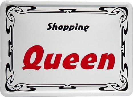Blechschild mittel Cartel de Chapa 15 x 21 cm Shopping ...