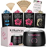Wax Warmer, KoluaWax Painless Hair Removal Waxing Kit with Hard Wax Beans. Multiple Formulas Target Different Type of Hair, Eyebrow, Facial, Armpit, Bikini, Brazilian,for Women and Men. 20 Applicators