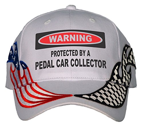 Protected By A Pedal Car Collector USA Flame Racing Hat (Flames Pedal)