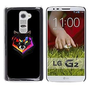 """For LG G2 , S-type Polígono colorido Fox"""" - Arte & diseño plástico duro Fundas Cover Cubre Hard Case Cover"""