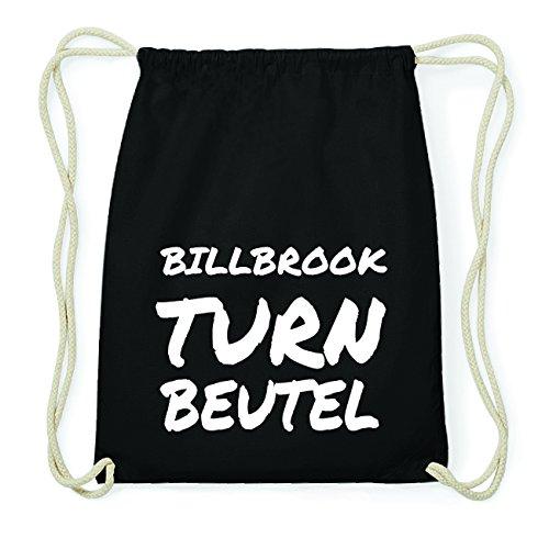 JOllify BILLBROOK Hipster Turnbeutel Tasche Rucksack aus Baumwolle - Farbe: schwarz Design: Turnbeutel