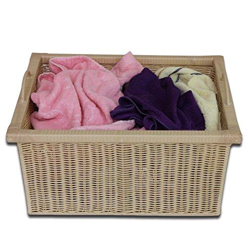 YZL/ Drawer/storage box/storage basket rattan storage baskets storage baskets/kitchen/bathroom/storage bamboo basket , meters white