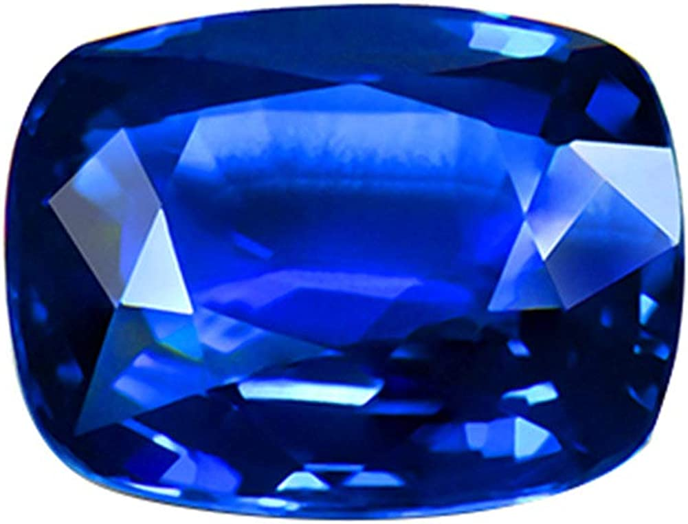 Piedra Preciosa Suelta de Sri Lanka con Zafiro Azul Real Natural de 5,99 Quilates con Certificado AIGS de 9,98 x 8,18 x 5,43 mm