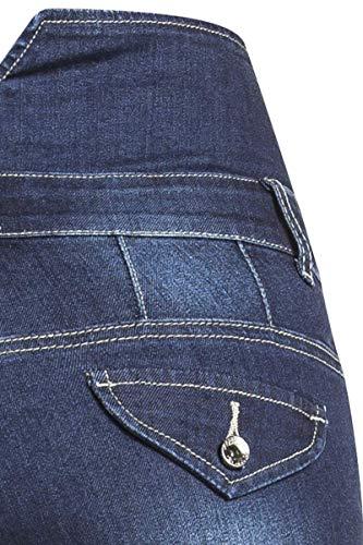 Cintura Oscuro Alta Jeans Tejanos Denim Forplay Azul HwqFPBEx
