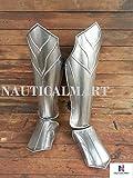 Halloween Thranduil's Armor - Steel Leg Greaves- LOTR (The Hobbit)-LARP Elven Leg Greaves - Pair