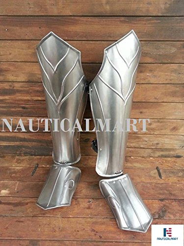 Halloween Thranduil's Armor - Steel Leg Greaves- LOTR (The Hobbit)-LARP Elven Leg Greaves - Pair by NAUTICALMART