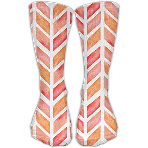 Custom Funny Stockings Watercolor Arrow Herringbone Crew Girls Boys Knee Long Socks Travel Breathable