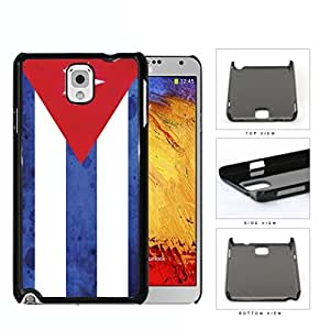 Cuba Flag Red Triangle and White Blue Stripes Grunge Hard Snap on Phone Case Cover Samsung Galaxy Note 3 N9000