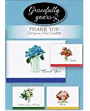 Gracefully Yours Bless Your Heart - Thank You Greeting Cards featuring Felix Doolittle, 12, 4 designs/3 each with Scripture Message