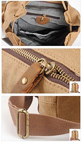 Neu, Retro, Persönlichkeit, Mode, Outdoor Tasche, Rucksack, Leinentasche, B0125