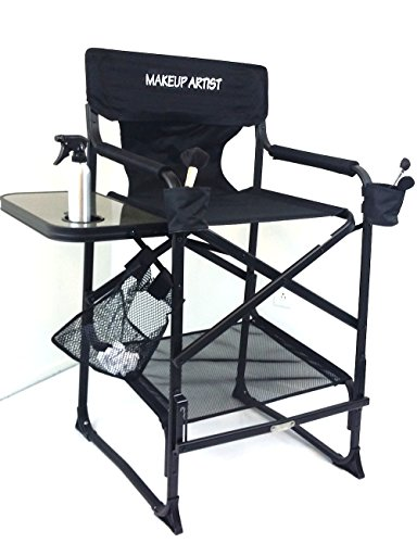 TUSCANYPRO MakeUp Artist Big Daddy HEAVY DUTY Tall PRO Chair-10 Years Warranty PRODUCT-A BONUS MAKE UP CASE INCLUDED WITH YOUR CHAIR BIGGER,WIDER AND BETTER-350 Lb Max Weight Cap.