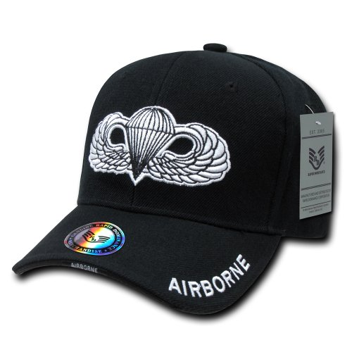 Rapiddominance Airborne The Legend Gorra Militar, Color Negro
