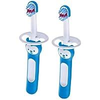 Mam Baby's Brush tandenborstel Neonato in 2-delige set voor Neonati tandenborstel met veiligheidsring, greep voor…