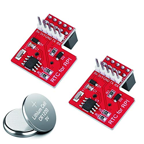 (Devsolution 2pcs DS1307 RTC Module Real Time Clock Module with 2pcs CR1220 Battery for Raspberry Pi 3/2 Model B/B+/A+)