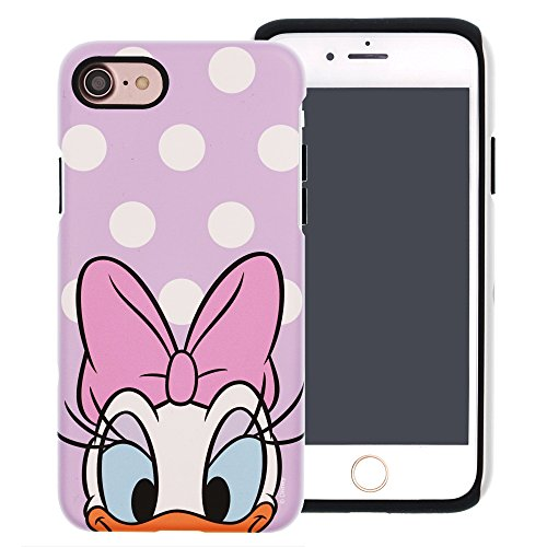 iPhone 8 / iPhone 7 Case, Cute Daisy Duck Layered Hybrid [TPU + PC] Bumper Cover [Shock Absorption] for iPhone8 / iPhone7 (4.7inch) - Dot Daisy Duck