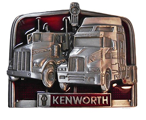 - KENWORTH TRUCKS Pewter Finish Metal/Enamel BELT BUCKLE