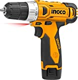JPT INGCO Li-ion 12V Heavy Duty Cordless Screw Driver (Yellow, 12V Drill)