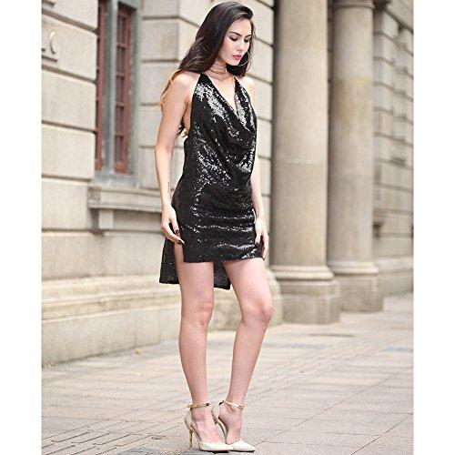 noche de la lentejuelas FOLOBE de fiesta A de vestido mujer vestido nCqYW