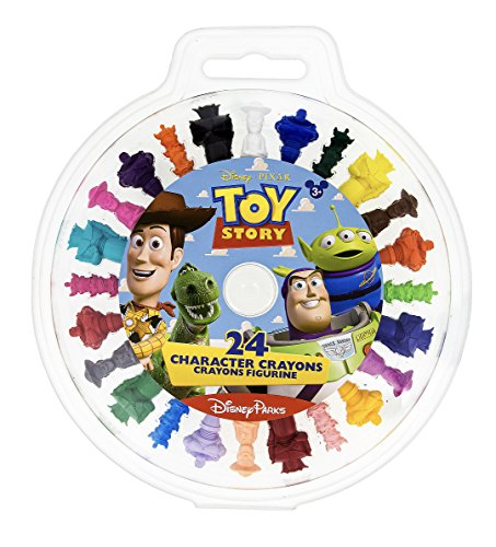 Disney Parks Toy Story Character Crayons Set of 24 Buzz Zurg Woody Alien
