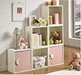Minimalist pink bedside table Locker Cabinets Bedside cabinet Bedside table Simple modern bedside table-A
