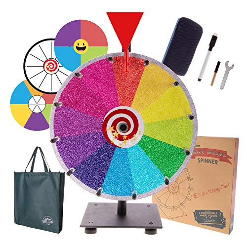 Prize Wheel Spinning Wheel for Prizes - Dry Erase Spin Wheel Game Small 12