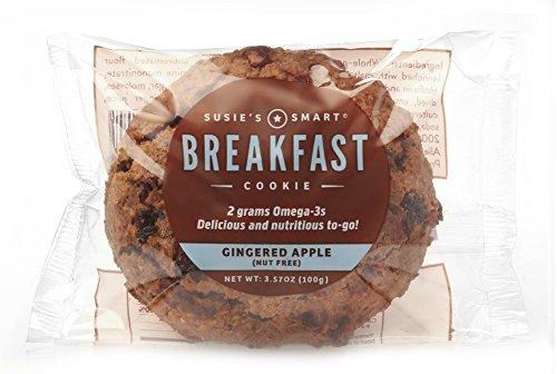 Susie's Smart Breakfast Cookie Gingered Apple Breakfast Cookie, , 3.5 Ounce (Pack of 18)]()