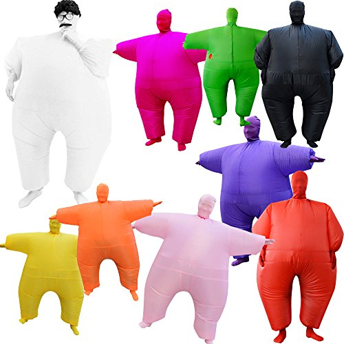 Novelty Mens Suits (Novelty Inflatable Full Body Jumpsuit Halloween Fancy Ball Costume Party Dress Up Toy (Rose red))