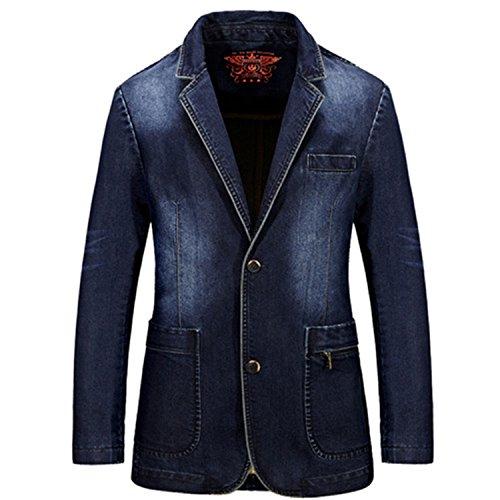 Vazpue Suits Denim Men Blazer masculino Jacket Slim Fit Casual