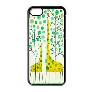 Fashion Giraffe theme hard back cover for iPhone 5c