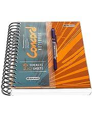 كشكول كونكورد 210 ورقة مع قلم مقاس A5 من ساسكو- برتقالي