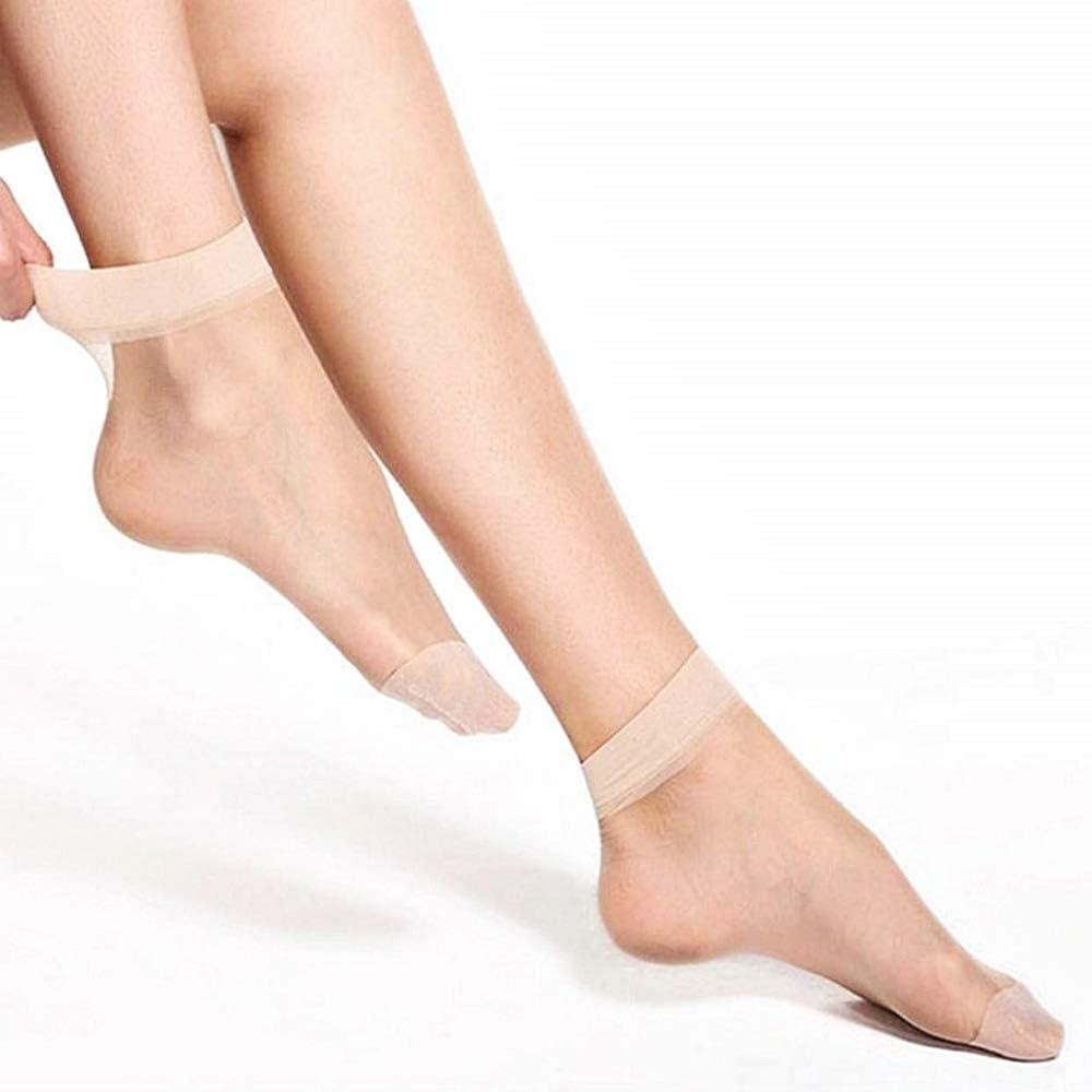 calzini corti alla caviglia colore beige Idea regalo Natale e compleanno leggeri confezione 5 paia Gambaletti donna velati
