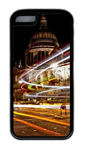 Customized Case Landscapes London Black for Apple iPhone 5C