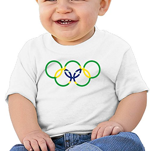Price comparison product image Boss-Seller Brazil Rio Olympic 2016 Short Sleeve T Shirts For 6-24 Months Newborn Baby Size 24 Months White