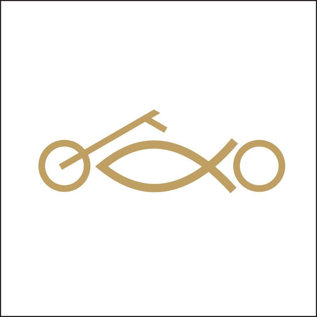 Amazon com lepni me 3140 b car stickers vinyl sticker jesus fish chopper motorcycle religious black automotive
