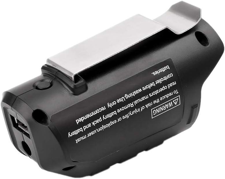 WEISHAZI Adaptateur USB de rechange pour batterie Li-ion Bosch Professional 10,8 V//12 V BHB120