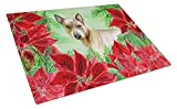 Caroline's Treasures CK1328LCB Thai Ridgeback Poinsettas Chopping Board, Large, Multicolor