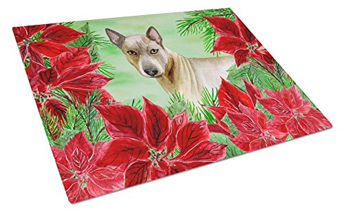 Caroline's Treasures CK1328LCB Thai Ridgeback Poinsettas Chopping Board, Large, Multicolor by Caroline's Treasures