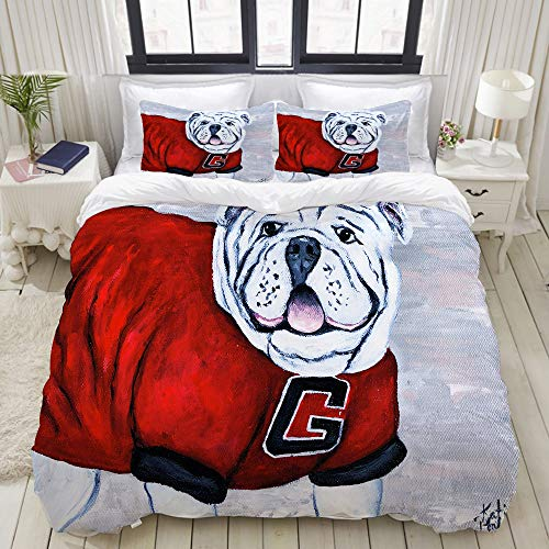 georgia bulldogs comforter queen - 6