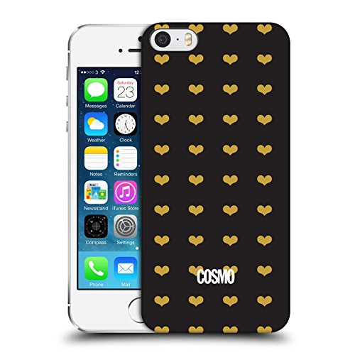 Official Cosmopolitan Heart Pattern Love Cosmo Hard Back Case for Apple iPhone 5 / 5s / SE