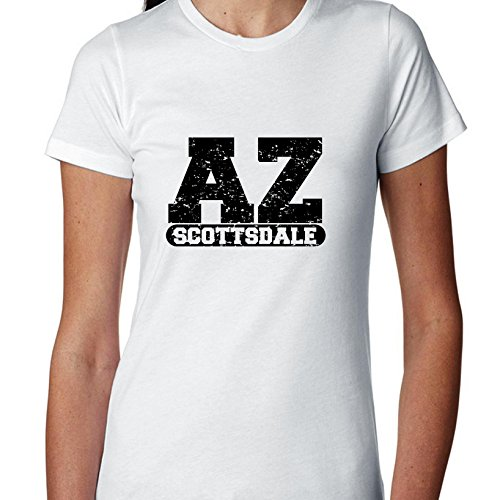Hollywood Thread Scottsdale, Arizona AZ Classic City State Sign Women's Cotton T-Shirt ()