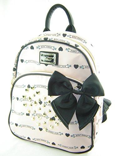 Betsey Johnson Mini Backpack Handbag Purse Banner Stud Pink