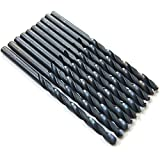 10PCS,17/64'' Inch HSS General Purpose Heavy Duty Jobber Twist Drill Bits,Black oxide,ideal for drilling on mild steel, copper, Aluminum, Zinc alloy etc. (17/64)