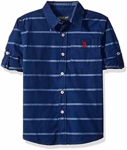 U.S. Polo Assn. Boys' Long Sleeve Single Pocket Sport Shirt