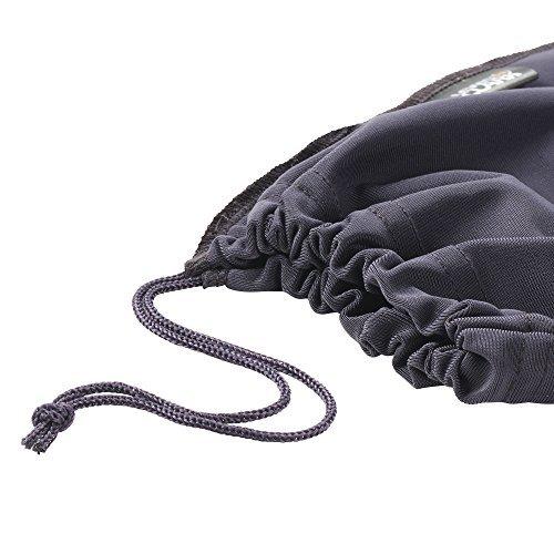 Lewis N. Clark Travel Shoe Covers 2-Pack Black/Grey