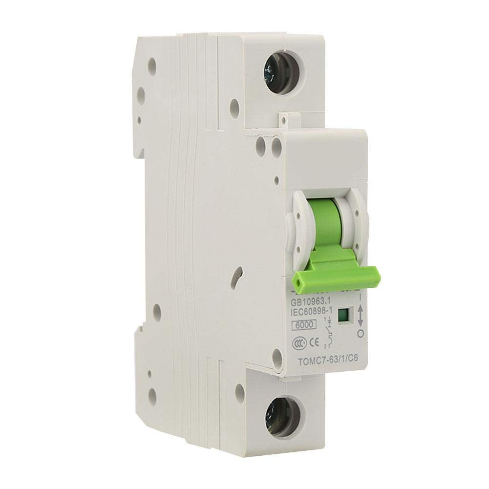 Circuit Breaker TOMC7-63 1P C-Type Miniature Current Breaker Leakage Protection Air Switch 25A
